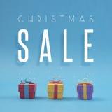 Сувенирный магазин цвета продажи рождества отрезанный бумагой handmade Стоковые Изображения RF