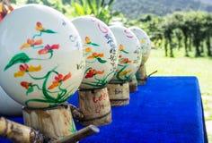 Сувенирный магазин eggs покрашенный страус Азия, Вьетнам желания для яичек Стоковые Изображения RF