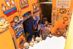 Сувенирный магазин Santorini Стоковое фото RF