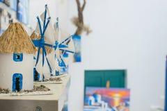 Сувениры ветрянки на Mykonos Стоковые Изображения RF