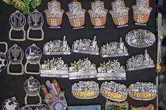 Сувениры в городе Яффы старом Стоковые Изображения