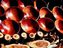 сувениры Деревянные утвари горы kanonkop Африки известные приближают к рисуночному южному винограднику весны Mak-mak водопадов Стоковое Изображение RF