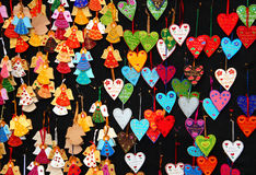 Сувениры на рынке Christrmas Стоковое Фото