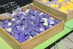 Сувениры от Провансали, Франции - мыла марселя Стоковые Фото