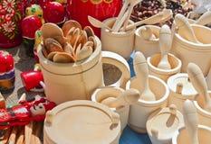 Сувениры сделанные из древесины Стоковые Фотографии RF