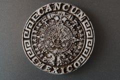Сувенир для туристов от Мексики Круглый магнит от Cancun Мексика стоковое изображение rf