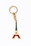 Сувенир ключевой цепи Парижа Франции Эйфелева башни Стоковое фото RF