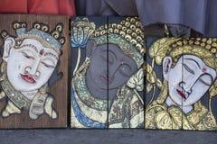 Сувенир от острова Бали Традиционная деревянная марионетка картины Индонезия Стоковые Фото