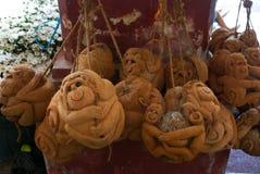 Сувенир сделан из кокоса Обезьяна myanmar Бирма Стоковая Фотография