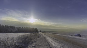 Сугробы зимы, русская зима Стоковые Фотографии RF