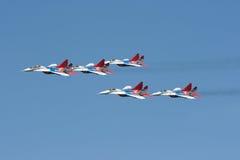 судовождение группы самолет-истребителей Стоковая Фотография