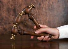 судьи gavel Стоковые Изображения RF
