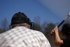 судья на вышке бейсбола Стоковая Фотография RF