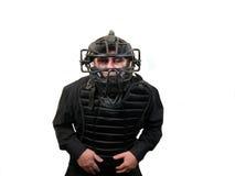 судья на вышке бейсбола стоковое изображение