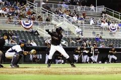 судья на вышке улавливателя batter бейсбола Стоковые Изображения RF