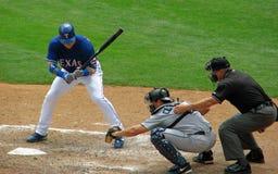 судья на вышке улавливателя batter бейсбола Стоковое Изображение