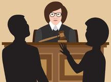 Судья плоского вектора женский иллюстрация штока
