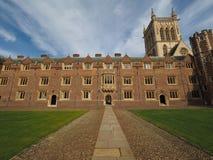Суд коллежа вторых St. John в Кембридже стоковое изображение rf