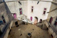 Суд St Tropez форта внутренний музея стоковая фотография