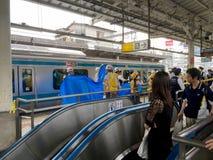 Суицид на поезде стоковое фото rf