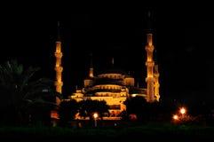 султан nigth мечети ahmed голубой Стоковое Изображение