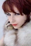 сумасбродная женщина портрета Стоковое фото RF