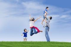 Сумасбродный день семьи Стоковая Фотография