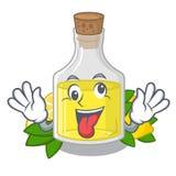 Сумасшедшее масло лимона полило внутри стекло мультфильма иллюстрация вектора