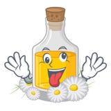 Сумасшедшее масло стоцвета помещенное в бутылке мультфильма иллюстрация вектора