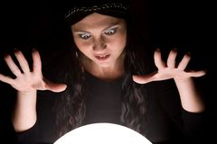 сумасшествие fortuneteller стоковая фотография rf