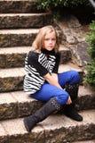 Сумашедшая несчастная маленькая девочка Стоковая Фотография