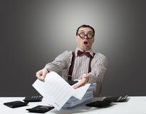 Сумашедший бухгалтер стоковое изображение