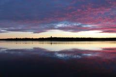 Сумерк в октябре Стоковая Фотография RF