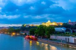 Сумерк в Тбилиси Стоковое Изображение RF