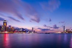 Сумерк гавани Виктории Стоковые Фотографии RF