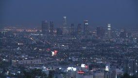 Сумерк горизонта Лос-Анджелеса сток-видео
