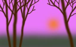 Сумерк 01 леса Стоковое Изображение