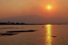 сумерк захода солнца Стоковые Фотографии RF