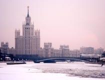 Сумерк зимы Москвы стоковое изображение rf
