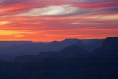 сумерк каньона грандиозное стоковая фотография rf