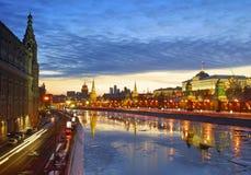 Сумерк Москвы Стоковые Фото