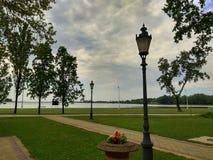 Сумерк на доле озера Palic Стоковые Изображения