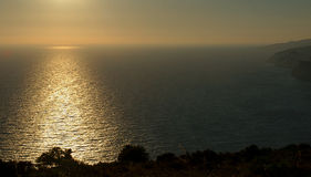 Сумерк на острове Закинфа стоковые изображения rf