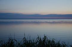 Сумерк на реке Стоковая Фотография RF