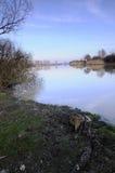 сумерк озера стоковое фото