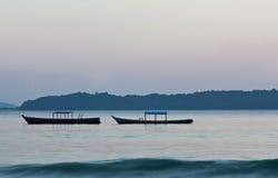 сумерк океана стоковые фото