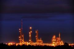 сумерк промышленного парка Стоковое фото RF