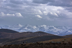 Сумерк снежных гор в Тибете Стоковое Изображение RF