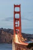 сумерк строба моста золотистое Стоковые Изображения RF