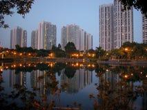 сумерк Hong Kong Стоковое фото RF